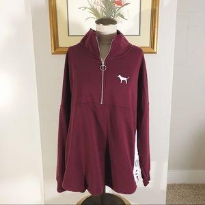 VS Pink 1/2 Zip Pullover 🐩
